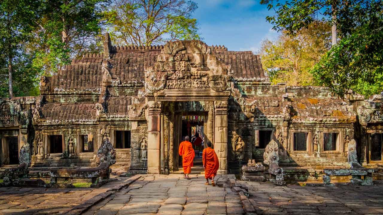 Cambogia - monaci Angkor