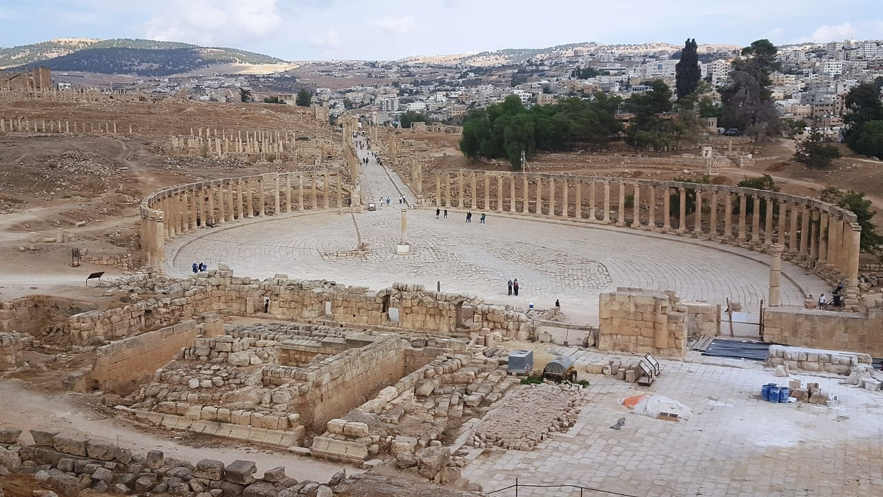 viaggio in Giordania - Jerash piazza
