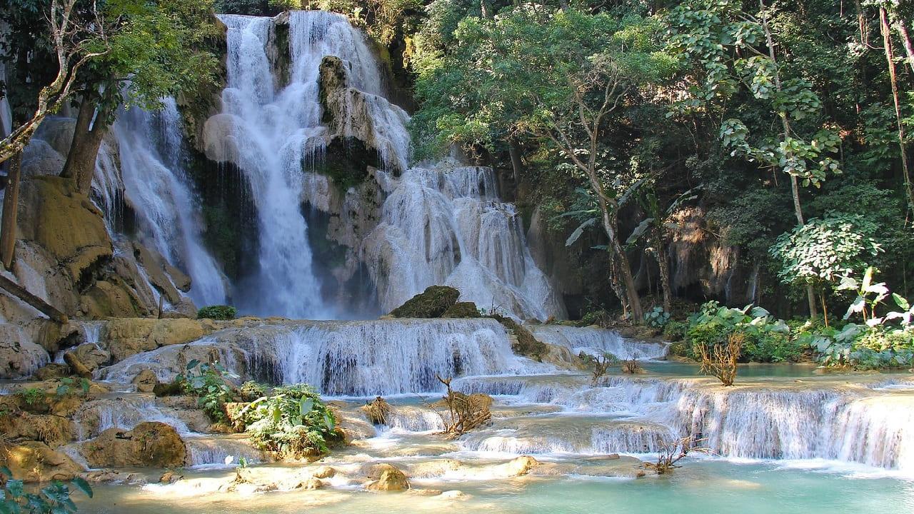 tour laos - cascata luang prabang